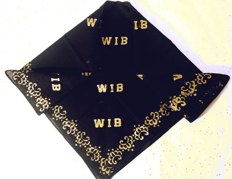 Classy Silhouette WIB Mafia Bandana. This is a promotional item for the WIB Mafia album. This is for entertainment purposes only.